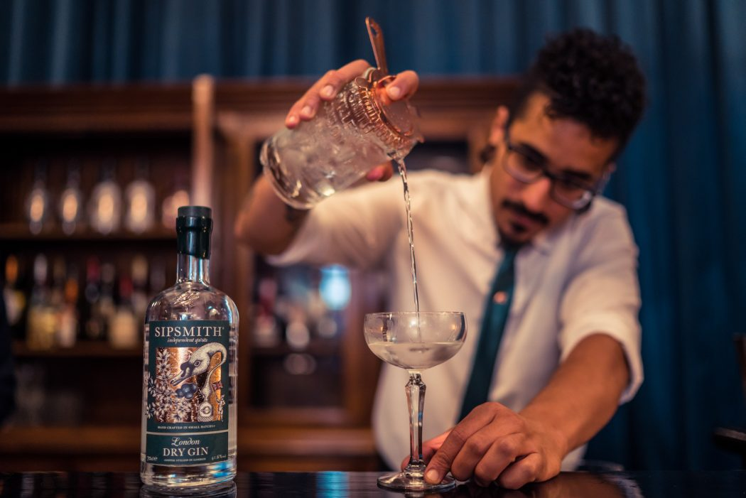 sipsmith 100 martini bar