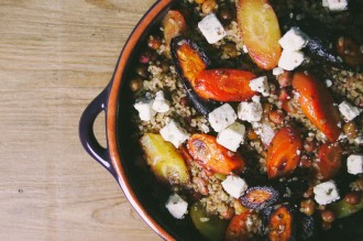 Salade met bulgur en wortelen